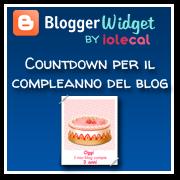 Countdown per il compleanno del blog