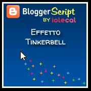 Effetto Tinkerbell - scintille colorate al passaggio del mouse