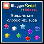 Stelline colorate che cadono nel blog