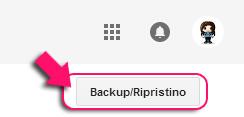 Backup/Ripristino