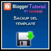 backup del template