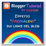 Effetto arcobaleno sui links del blog