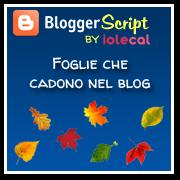 Foglie che cadono nel blog