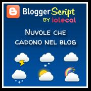Nuvole che cadono nel blog