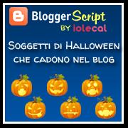 Soggetti di Halloween che cadono nel blog