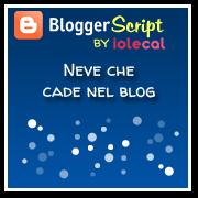Neve che cade nel blog
