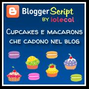 Cupcakes e macarons che cadono nel blog