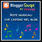 Note musicali che cadono nel blog