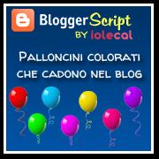 Palloncini colorati che cadono nel blog