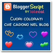 Cuori colorati che cadono nel blog