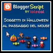 Soggetti di Halloween al passaggio del mouse