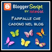 Farfalle che cadono nel blog