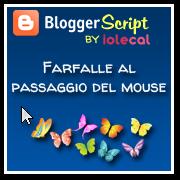 Farfalle al passaggio del mouse