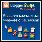 Soggetti natalizi al passaggio del mouse