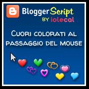 Cuori colorati al passaggio del mouse