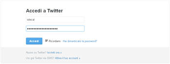 accesso twitter