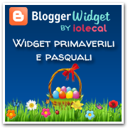 Widget Primavera e Pasqua