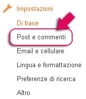 post e commenti