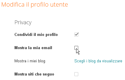 mostra email