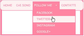 esempio menu